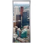 Стеклянная межкомнатная дверь Skyscrapers