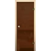 Дверь для бани и сауны Бронза (Матовое)